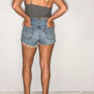 Levi's Shorts - LEVI'S BUTTON UP HIGH WAISTED SHORTS